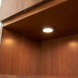 LEDライト付きキャビネット 幅80cm LEDダウンライト