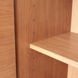 Sorrento/ソレント リビングキャビネット 幅76高さ95cm 板扉 扉内の棚板は6cmピッチで高さ調整できます。