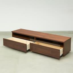 ウォルナット天然木テレビ台 幅180cm