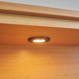 LEDライト付きサイドボードシリーズ LEDサイドボード 幅200cm 収蔵品を照らすLEDダウンライト。