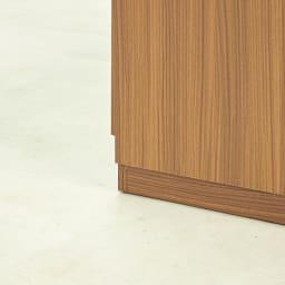 Remonte/ルモンテ リビングシリーズ キャビネット 幅120.5cm 巾木よけカット(高さ10奥行1cm)があるので、壁にぴったりつけて設置できます。