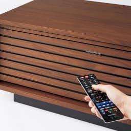 Nolan/ノーラン リビングシリーズ テレビ台 幅180cm 格子の扉は閉じたままでもリモコン操作ができます。