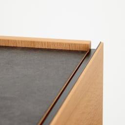 Boulder/ボルダー 石目調天板テレビ台 幅150cm 側面と前板が立ち上がったエッジのきいたデザイン。