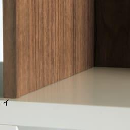 London ロンドン リビングシェルフ 5段 背板にも美しい木目の高級材ウォルナット天然木を使用。細部の仕上げも丁寧です。