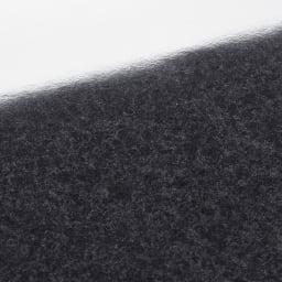 Granite/グラニト モダンFAX台 幅85cm 天板の黒御影石調メラミン仕上げ。