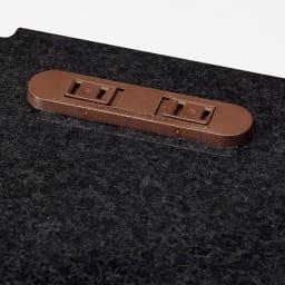 Granite/グラニト モダンFAX台 幅85cm キズに強いメラミン天板には2口コンセント(計1500W)があります。