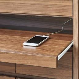 Granite/グラニト モダンFAX台 幅85cm ごちゃつくコードを隠せ、充電中もすっきり。