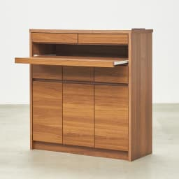 Granite/グラニト モダンFAX台 幅85cm 幅85タイプ スライドテーブルオープン時