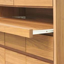 Granite/グラニト モダンFAX台 幅85cm マルチに役立つスライドテーブルは、レール式で出し入れもスムーズ。