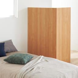 Epel/エペル アルダー天然木 間仕切りデスク 背面も美しくフラットな仕上げなので、寝室やリビングの間仕切りとしても使えます。