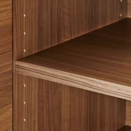 Granite/グラニト デスクシリーズ キャビネット幅90cm 棚板は3cmピッチで調整できるので、収納物に合わせて高さを変えられます。