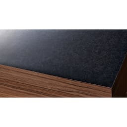 Granite/グラニト デスクシリーズ キャビネット幅119cm 天板は高級感ある黒御影石調のメラミン素材。