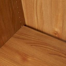 K´astani/カスターニ バイカラーコレクション本棚 本体 奥行45cm・幅79 高さ180cm 棚板奥に隙間が空いているので配線が通せます。
