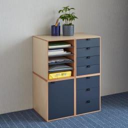 Kools/コールス 書類収納 A4 スタッキングすると高さ約70cmで、デスク横で使い易いサイズです。