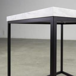 Marbrim/マーブリム 大理石調テーブルシリーズ ネストサイドテーブル 2つの素材のコントラストがシックな輝きを添えて。
