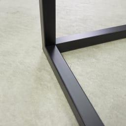 Marbrim/マーブリム 大理石調テーブルシリーズ ネストサイドテーブル 力強いブラック仕上げのフレーム。