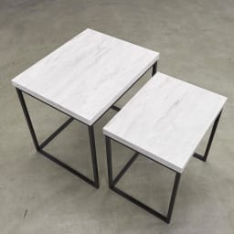 Marbrim/マーブリム 大理石調テーブルシリーズ ネストサイドテーブル コーヒーテーブルとして、または寝室でリーディングライト置きとして。