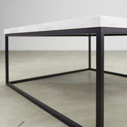 Marbrim/マーブリム 大理石調テーブルシリーズ ネストセンターテーブル 2つの素材のコントラストがシックな輝きを添えて。