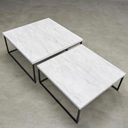 Marbrim/マーブリム 大理石調テーブルシリーズ ネストセンターテーブル ソファ前のセンターテーブルにちょうど良いサイズ。