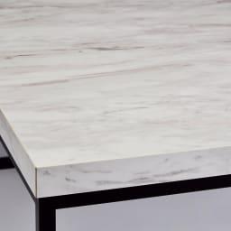 Marbrim/マーブリム 大理石調テーブルシリーズ ネストセンターテーブル 石目調の天板とブラックスチール脚のコントラストがシックな輝きを添えます。