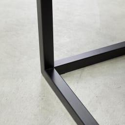 Marbrim/マーブリム 大理石調テーブルシリーズ ネストセンターテーブル 力強いブラック仕上げのフレーム。