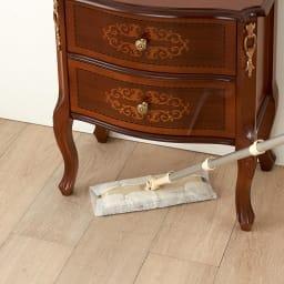 Delia/デリア イタリア製キャビネット 2段チェスト 脚付きだから掃除も簡単。