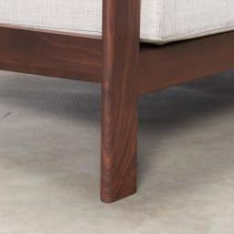 a tempo/アテンポ ウォルナット天然木 木製フレームソファ 3人掛け・幅198cm