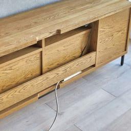 HS Brookryn/エイチエスブルックリン リビングシリーズ テレビボード 幅160cm・高さ45cm 背面に配線コードをすっきり収められます。