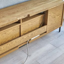 HS Brookryn/エイチエスブルックリン リビングシリーズ テレビボード 幅180cm・高さ60cm 背面に配線コードをすっきり収められます。