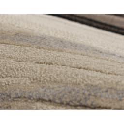ベルギー製 Alferat/アルフェラッツ 高密度ウィルトン織ラグ 素材アップ・糸抜き加工を施すことで、立体的なデザインに仕上げています。