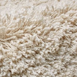 トルコ製Marika/マリカ ミックスシャギーラグ 円形(イージーオーダー) [素材アップ]アイボリー 2色以上のニュアンスカラーの糸をツイストした色に深みのあるシャギーです。