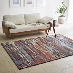 Abell/アーベル ウィルトン織マット 色見本(ア)テラコッタ系 ※写真は約160cm×230cmです。