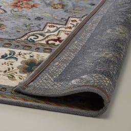 イタリア製ジャカード織ラグ〈イスタ〉 裏面は滑りにくい加工