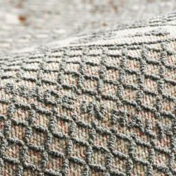 Botanico/ボタニコ イタリア製ジャガード織ラグ 裏面は滑りにくい加工。