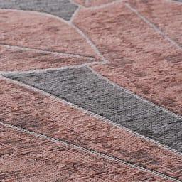 Botanico/ボタニコ イタリア製ジャガード織ラグ/マット 円形 約径175cm 生地アップ (ウ)グレー