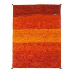 Gabbeh/ギャベ インド製 ウールラグ オレンジグラデ ※写真は約200×250cmです。