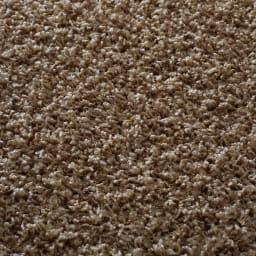 ナイロン洗えるツイストシャギーカーペット 3~12畳タイプ(イージーオーダー) (エ)カフェオレ