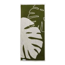 Monstera/モンステラ シリーズ トイレタリー 小物2点セット ハンドタオル・ペーパーホルダーカバー ハンドタオル 裏面