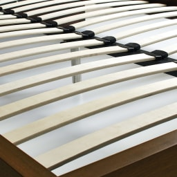 GlanPlus/グランプラス ベッド 高密度ポケットコイルマットレス 床板は通気性のよいウッドスプリング仕様。ムレを逃がして快適な眠りを届けます。