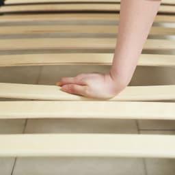 国産ユーロトップポケットコイルマットレス GlanPlus/グランプラス ベッド 床板すのこがほどよくしなるウッドスプリング仕様。体とマットレスをしっかり支えます。