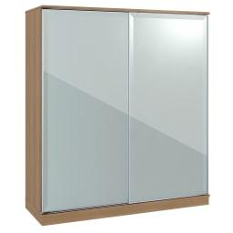 Milath/ミラス スライドワードローブ ガラス扉タイプ 幅160.5cm ライトナチュラル