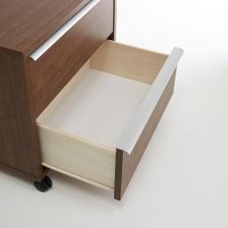 Mieli/ミエリ キャスター付きチェスト 幅60cm・2段(高さ54.5cm) 引き出しは滑らかに開閉するレール付きです。