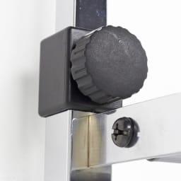 Shinevarie(シャインバリエ) クローゼットハンガーラック 幅150cm~250cm対応 突っ張りのパイプを締めるのも回すだけで固定できます。