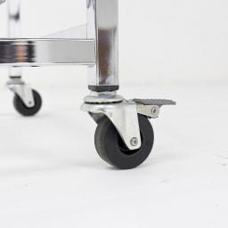 Shinevarie(シャインバリエ) クローゼットシリーズ スライドシャインバスケットラック8段 キャスターも重さを支える頑丈仕様です。前輪2つはストッパー付きでしっかり固定できます。