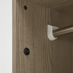 Vises/ヴィセス オープンワードローブ 幅60cm ハンガー&引き出し スイッチオンすれば、柔らかい光が広がります。