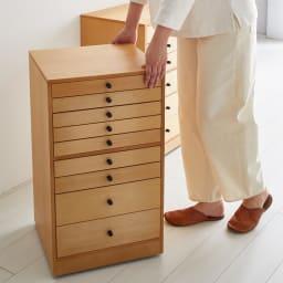 Ruche/ルーシュ ジュエリーチェスト 衣類小物収納 幅40 キャスター付きだから、欲しい場所へサッと移動して使えます。