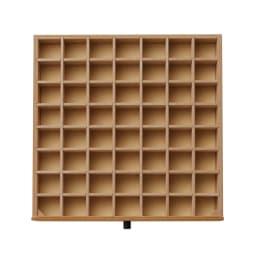 Ruche/ルーシュ ジュエリーチェスト アクセサリー収納 幅40 1・2段目…7列×8行の格子状の仕切り付き。底にフェルト貼り。リングやピアスの収納に。