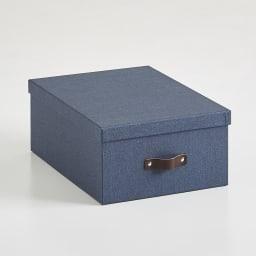 Sサイズ収納ボックス 2個セット[BIGSOBOX/ビグソーボックス]スウェーデン生まれの収納ボックス (ウ)ネイビー
