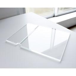 Boby Wagon/ボビーワゴン 専用アクリル天板セット[B-LINE・ビーライン/デザイン:ジョエ・コロンボ]) 厚みのある透明アクリル板で、ボビートロリーの天板の仕切り段差を平らにしてくれます。透明なのでお気に入りの本体カラーも阻害しません。