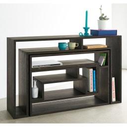 SHOJI ショージ オケージョナルテーブル 3点セット(コンソール・リビングテーブル)[abode(アボード)/デザイン:ウー・バホリヨディン] 3点セット組み合わせでの使用例